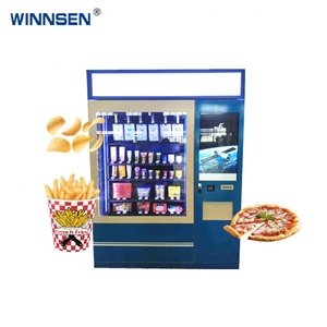 Shop 24 self-service machine pringles french fry hot food vending machines for sale