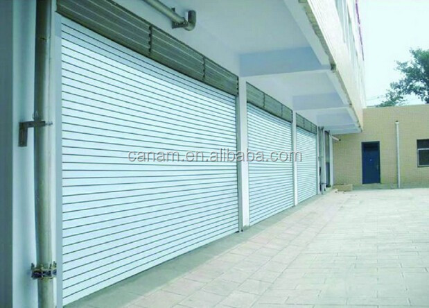 Made in China double glazed aluminium folding polycarbonate rolling door