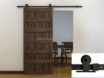 66 ft rustica barn door hardware kit stainless steel wood barn door track set