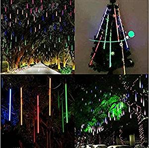 get quotations goodplay 8 tubes 30cm waterproof falling rain lightsled lights icicle falling cascade tree light