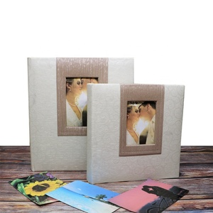 Custom 13x18cm 200 photos PU Leather Book Bound Photo Album