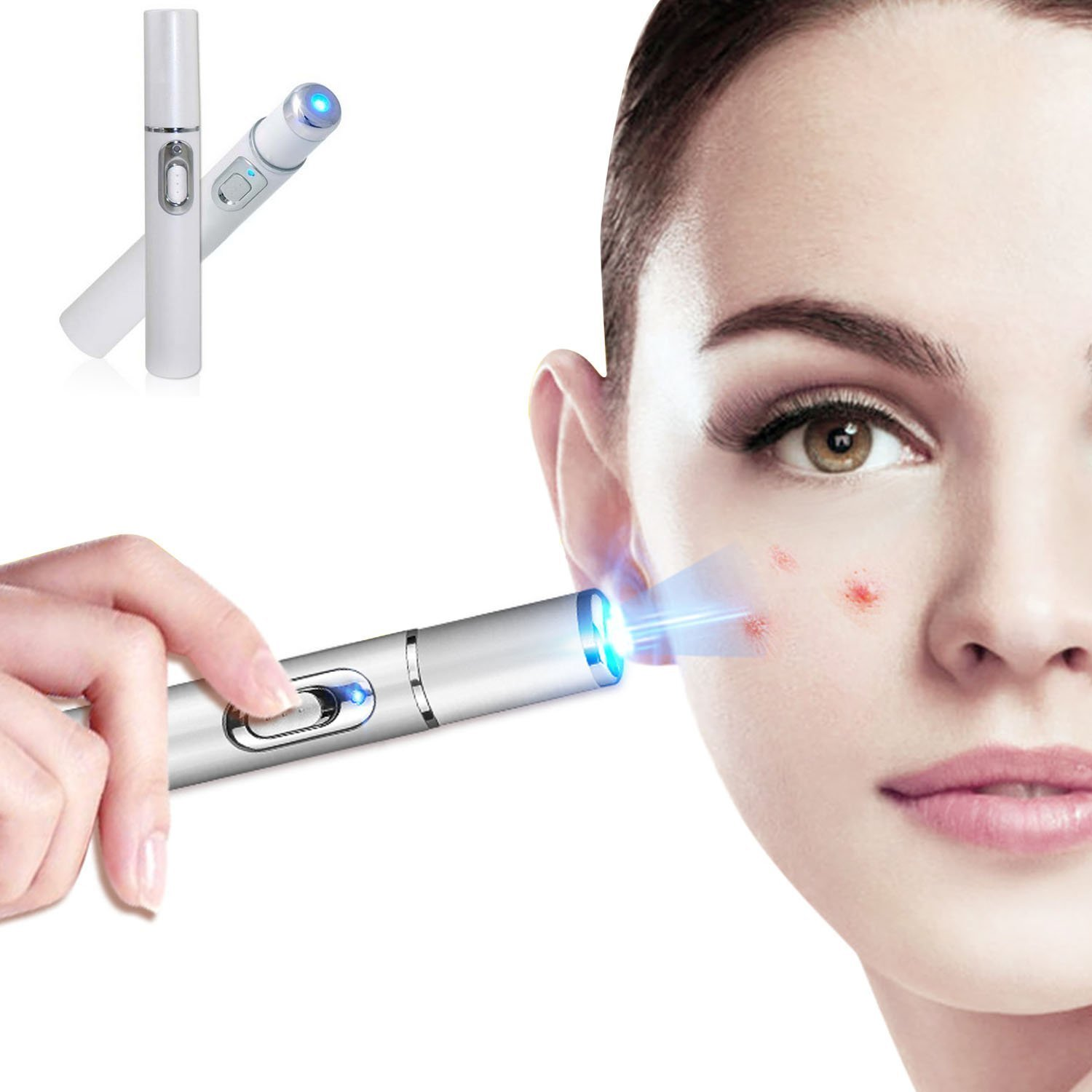 Personal Care Acne Scar Blemishes Pimples Zits redness swelling clearing removal therapy machine, BIO Anti-inflammation, 415nm warm Blue Light Lymph Detoxification