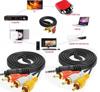 .5M 3m HIFI RCA Jack Audio Cables 3.5mm Male to Male 2RCA 3RCA AUX Cables RCA Cable for Home Theater DVD Headphone
