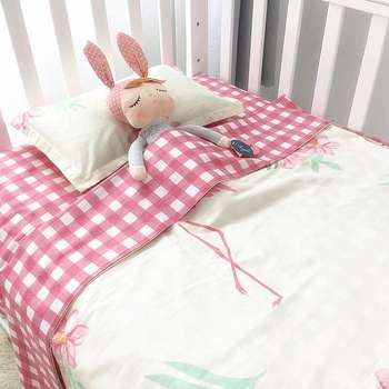 Cute pattern soft 3 piece baby bedding set crib bedding set
