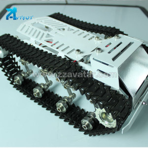 60-120W/12V*2 Strong loading capacity caterpillar robot chassis