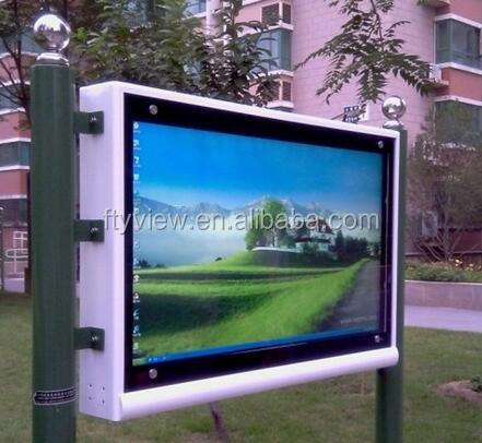"42"" Outdoor IP65 Windows Totem Vertical LCD Advertising Outdoor Digital Signage Display Screen"