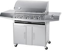 Outdoor Kitchen 6 Burners Stainless Steel Gas BBQ Grill With CE