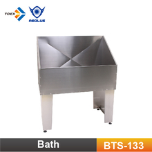 BTS-133 Collapsible Stainless Steel Dog Bathtub Standing Pet Washing Tub
