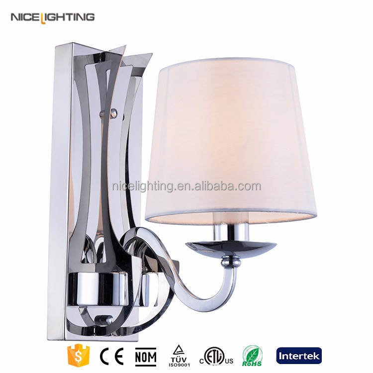High quality low price background flexible wall light with silver sleeping room wall lamp