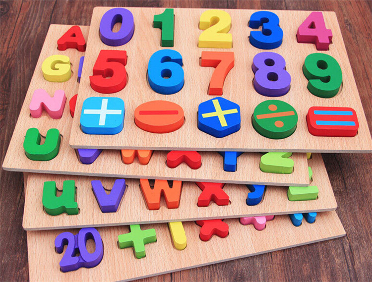 FQ brand wholesale New Design Popular Customize Wooden Arabic Number Puzzle