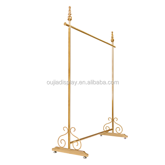 hot sale luxury rose gold garment display rack