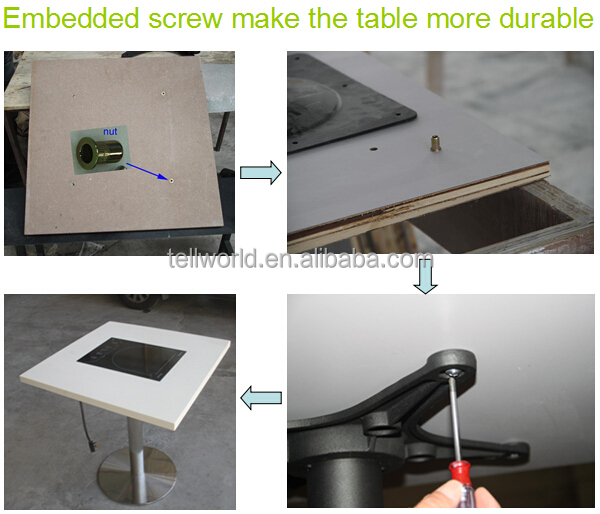Corian Manufacturing Process: Artificial Marble Top Quality Mdf Dining Table Design For