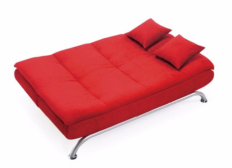 Traditional Green Suede Fabric Italian Style Folding Sofa