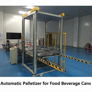 Electric driven automatic type palletizer/stacker for cans packing line