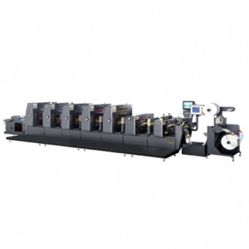 Intermittent label offset printing machine ZX-320 dry curved offset printer
