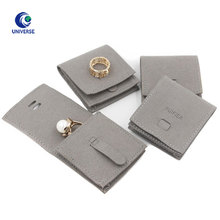 Wholesale Luxury Small Flap Gift Embossed Suede Leather Jewellery Envelop Pouch