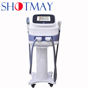 Hot Sale STM-1003 Portable E-light RF IPL Laser/1200W Optic Fiber Laser with Double Handle for Skin Tightening OPT Hair Removal