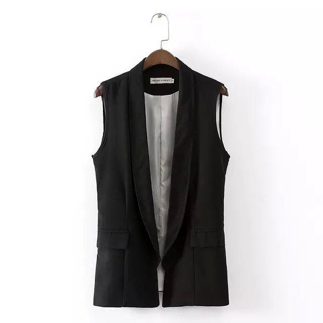 В европа и америка майка костюм жилет нет пуговица показать тонкий жилет пальто Simple и удобные