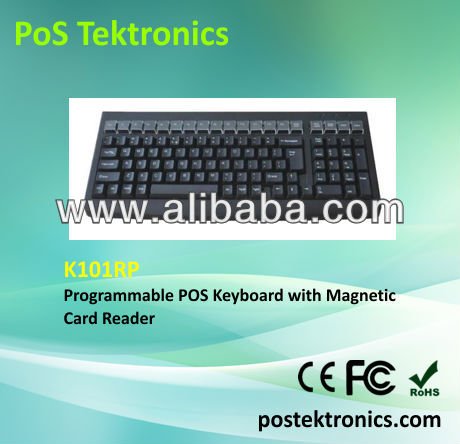 K101RP PC Keyboard with MSR