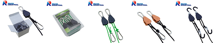 "2PCS 150 LBS 1/8"" Hydroponic Green House Light reflector Hanger Rope Ratchet,Light Hanger"
