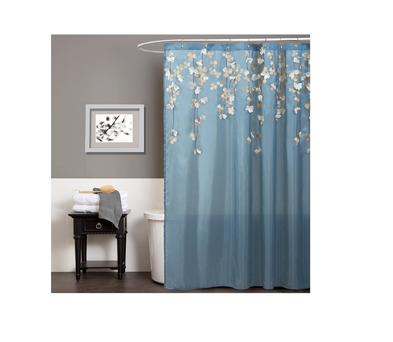 Cheap Blue Flower Shower Curtain, find Blue Flower Shower Curtain ...