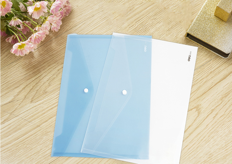 A4 a3 size  office supplies snap button transparent paper pp plastic document carrying file folder fastener document bag