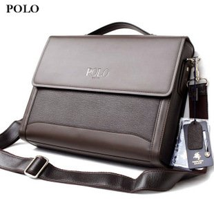 Brand New Polo Brown Leather Briefcase Laptop Bag Gift P338a - Buy ... 1155101406619