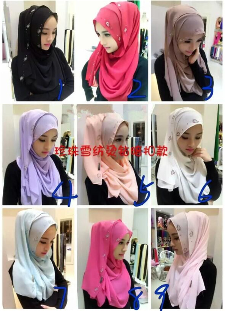 High Quality Abaya Muslim Scarf  Hijabs for Women 19 Colors Yashmak China Supplier