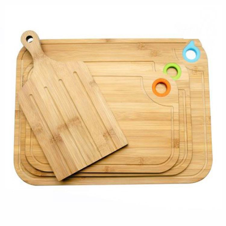 4 Piece Bamboo Cutting Board Set