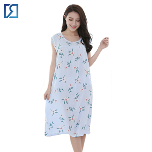 lowest discount promo code low price Floral Printed Long Cotton Nighty