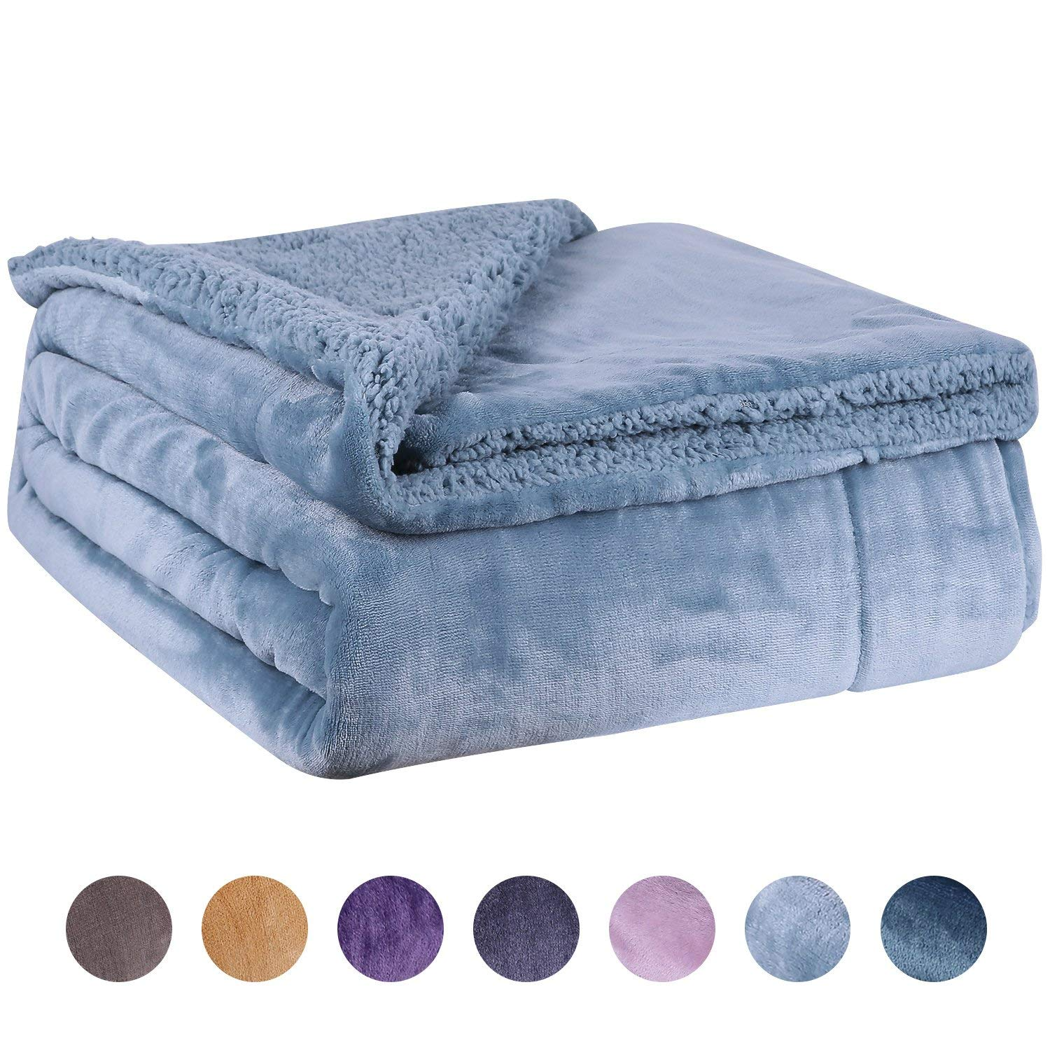 Get Quotations · Fleece Throw Blanket Twin Size - Fuzzy Sherpa Plush Queen  Summer Throw Blanket for Couch Soft 9f95ca549