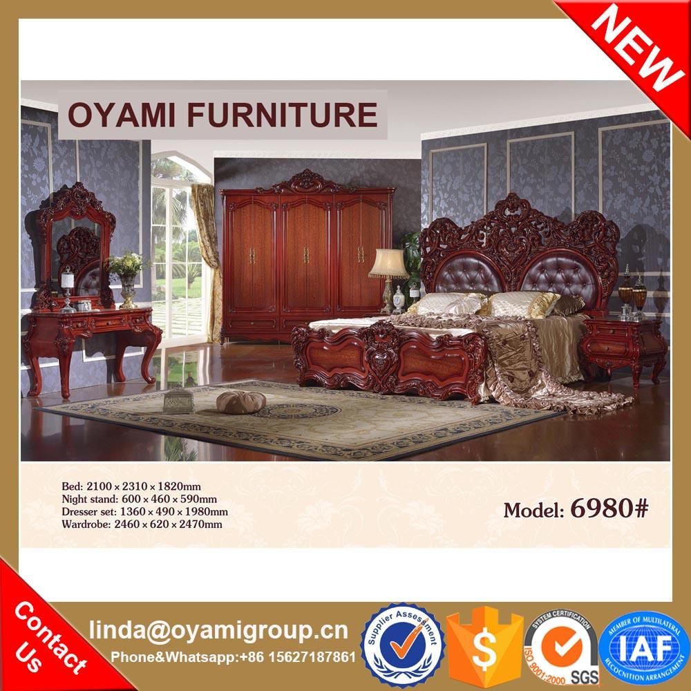 Moderno tradicional Hecho en china estilo francés cama muebles de ...