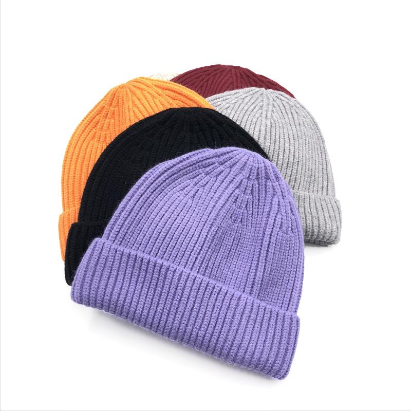 Tùy Chỉnh Đồng Bằng Walmart Chunky Knit 100% Cotton Hữu Cơ Beanie Hat