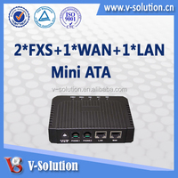 Lantiq chipset 2 FXS VoIP gateway, 2 fxs port analog voice ata