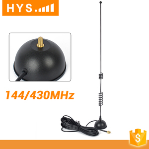 High Gain Uhf Vhf Dual Band Walkie Talkie Base Station Spring Rf Magnetic Antenna