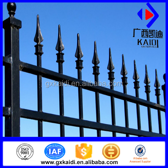 Ornamental Steel Fencing/Spear Top Wrought Iron Fence/Tubular Steel Fence(Factory)