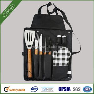 Cheap high quality wholesale bbq apron with tool pocket for sale