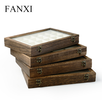 FANXI Custom jewellery Tray case With Glass lid Linen pillow For Ring  Necklace Bracelet Display Stackable Wooden Jewelry Cases, View Jewelry  Cases,