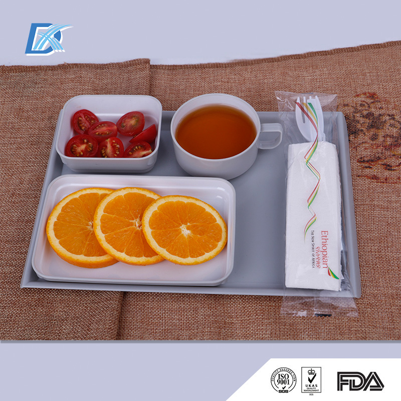 BPA Free Reusable Airline ABS Plastic Inflight Dinnerware