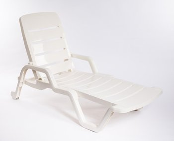 White Plastic Pool Lounge Chair,Leisure Sun Lounger Chair,Beach Chair  Furniture DN