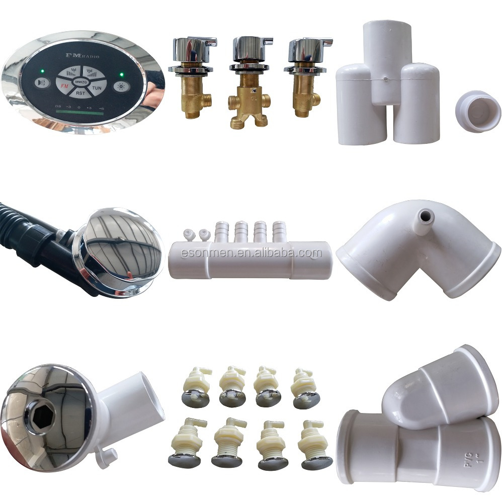 Complete Bathtub Parts Accessories/ Drain/Elbow/Control Panel/Mixer/Jets/Pump/LED