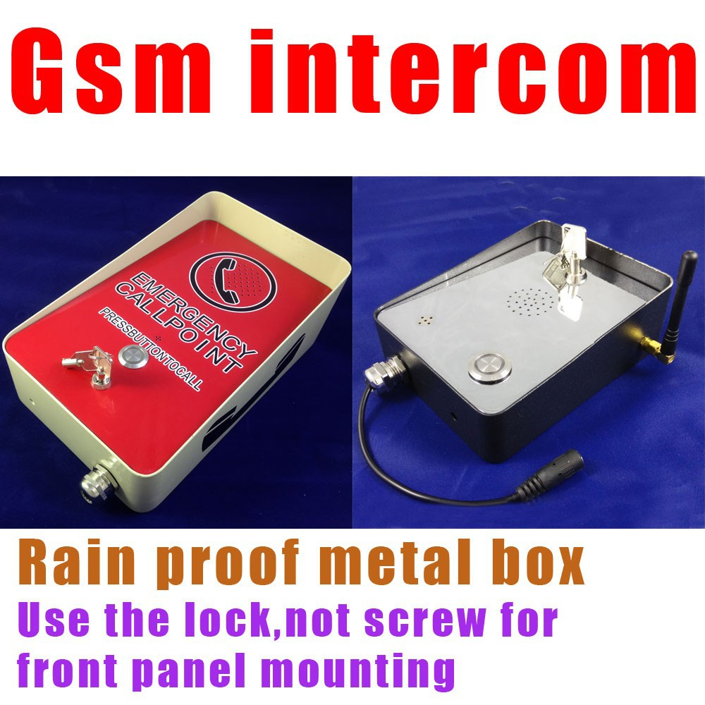 GSM Intercom for emergency calling for public area