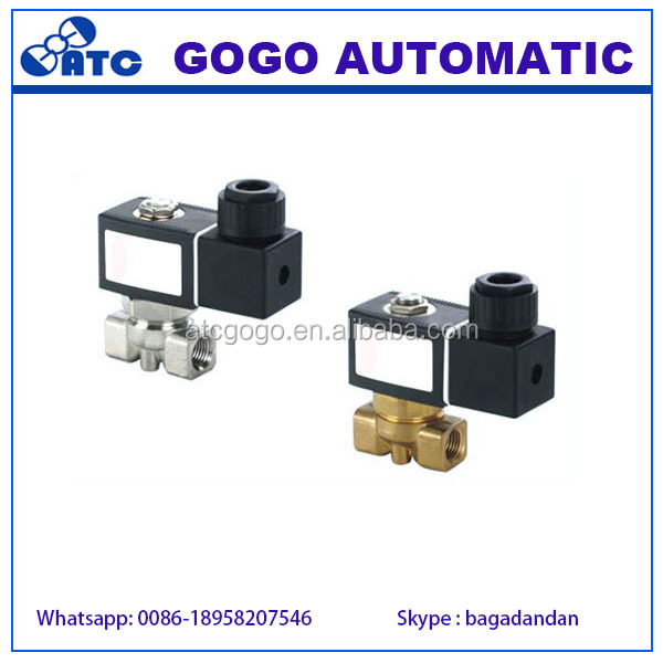 solenoid valve plunger three port solenoid valve high quality 3 way water shut off valve