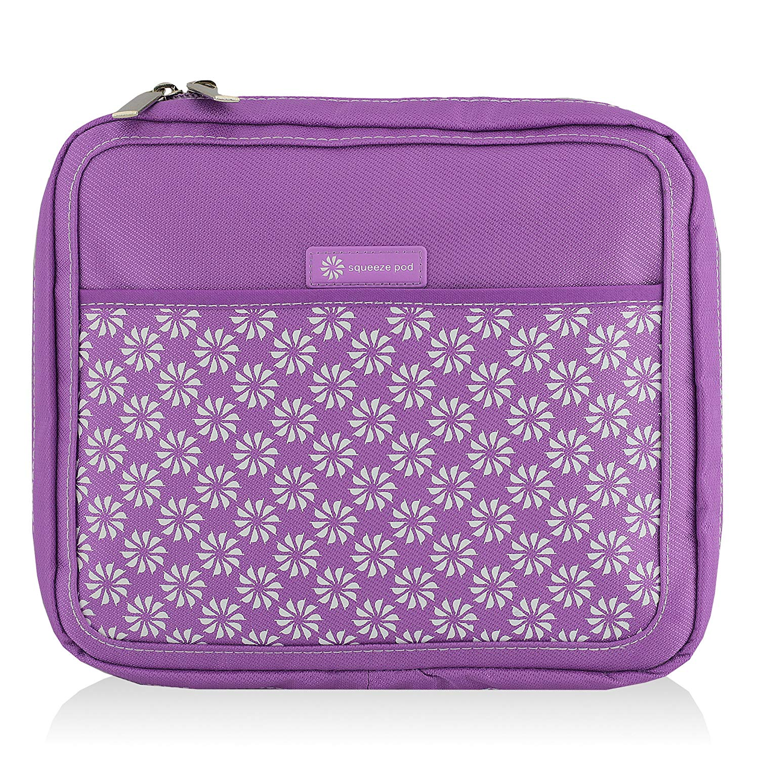Squeeze Pod Slim Toiletry Travel Bag - 2 Bags in 1: Durable Nylon Toiletry Case + Removable Clear Quart Size Bag - TSA Approved. Compact Size for Carry-On Bag. Easy to Pack & Organize (PAPPRWW)