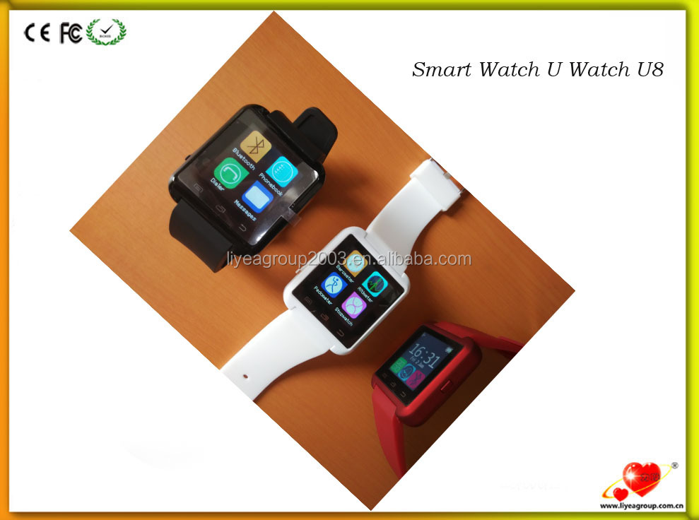Black Bluetooth Android Smart Mobile Cell Phone U8 Smart Watch Wrist Smart Watches For Ios Samsung Lg Watch Mens With Ce