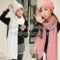 fashion top sale beautiful ladies hat and scarf