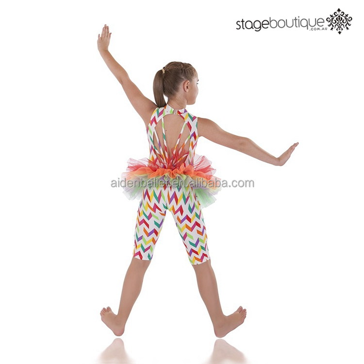 Adults rainbow trapeze unitard contemporary circus acro dance costume