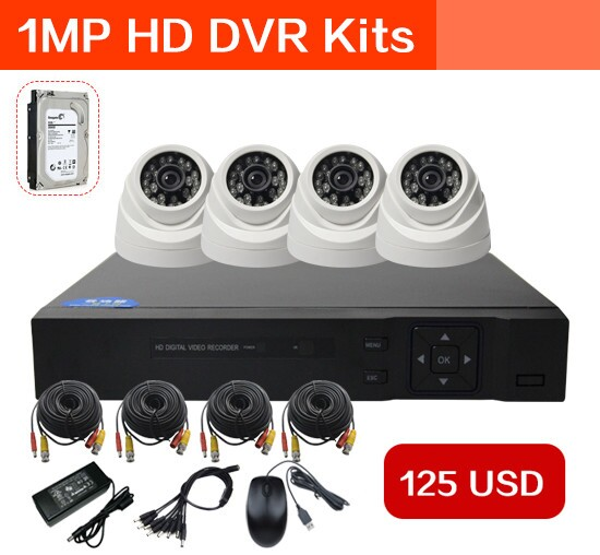 Boshen 4ch security camera ahd dvr camera system kit 720p 1080p with hard drive 1TB