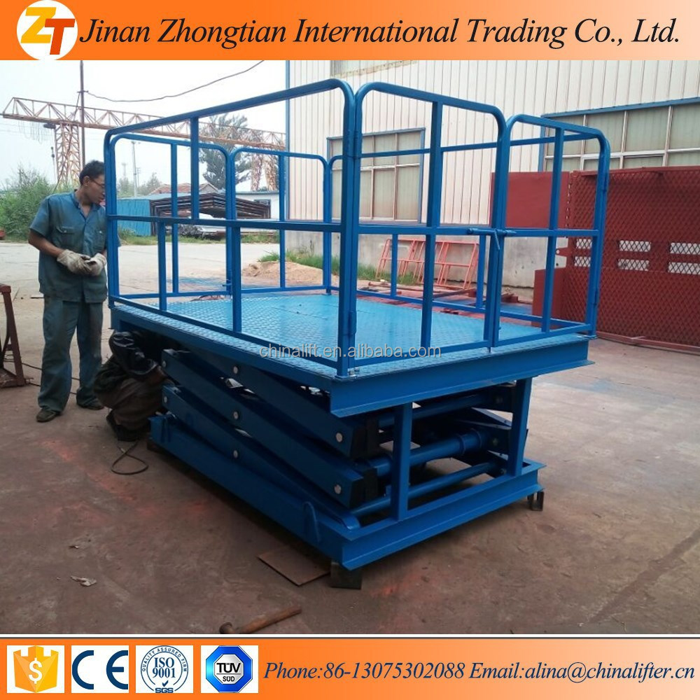 0.5ton small electric cargo hydraulic stationary platform scissor lift for sale