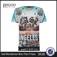 MGOO Custom Design Black East Cal Graphic Print T-Shirt Men Digital Full Print Short Sleeve Tee Your Private Label